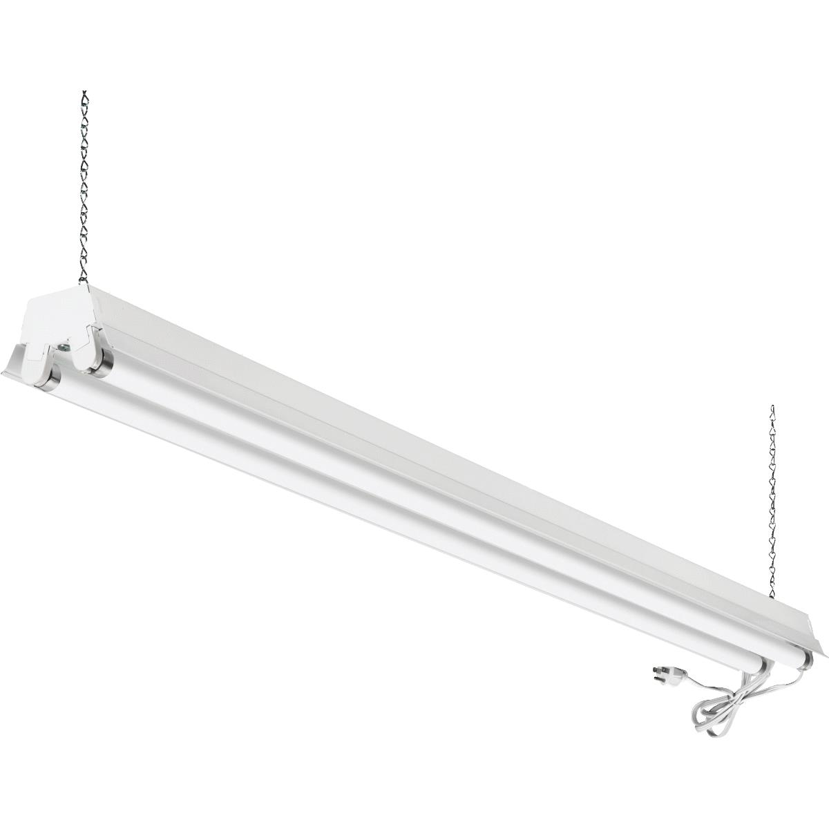 4-Ft. White T12 2-Light Fluorescent Shop Light Fixture